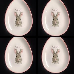 💕COMING SOON💕NEW RAE DUNN 4 BUNNY EASTER PLATES